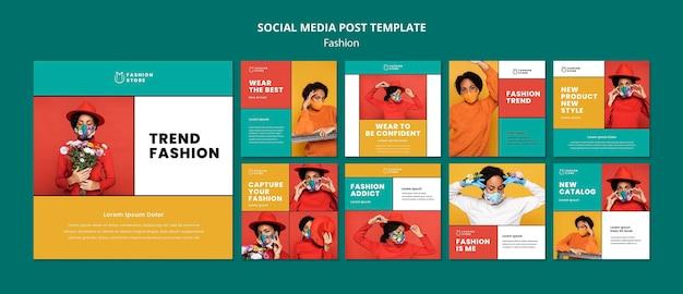Publicación de tendencias de moda en redes sociales