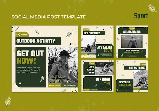 Publicaciones deportivas en redes sociales
