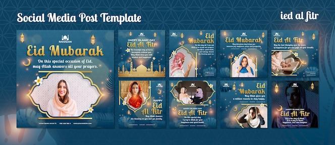 Publicaciones de eid al-fitr en redes sociales