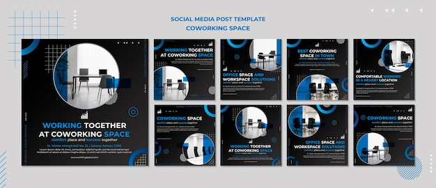 Publicaciones de instagram de coworking space