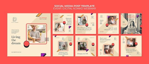 Publicaciones de instagram de nómadas digitales