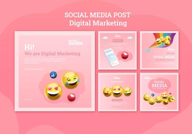 Publicaciones de instagram en redes sociales