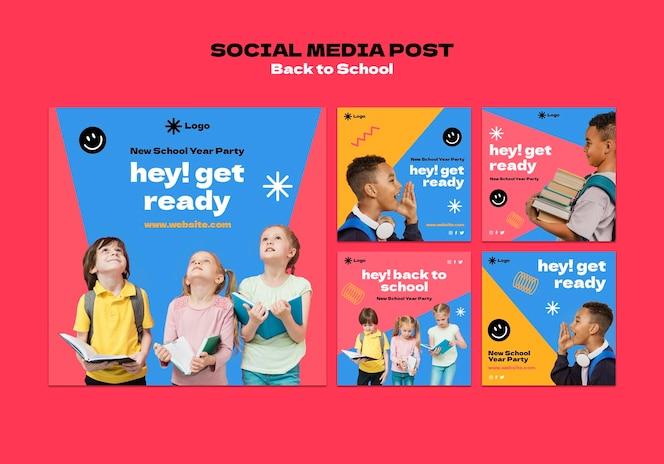 Publicaciones de instagram de regreso a la escuela