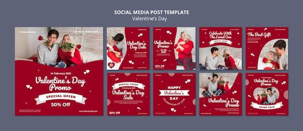Publicaciones de instagram de san valentín con foto
