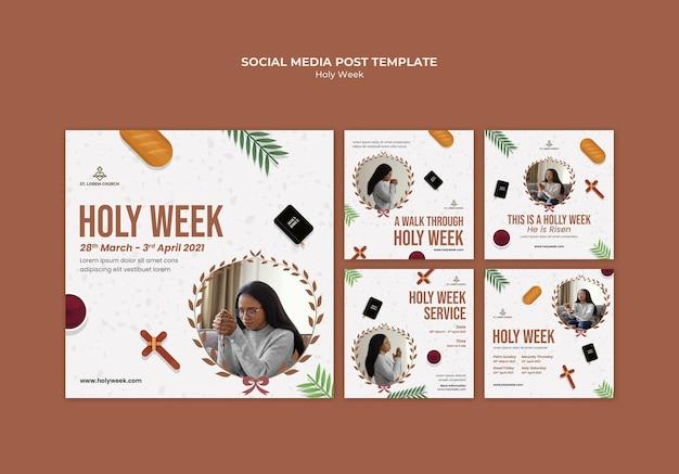 Publicaciones de instagram de semana santa con foto