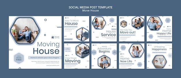 Publicaciones de instagram de servicio de mudanza de casa