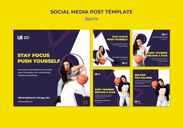 Publicaciones de instagram de torneo de baloncesto
