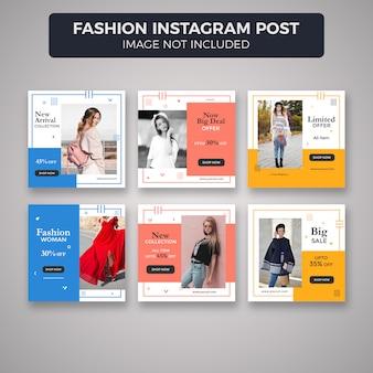 Publicaciones de moda o plantillas de banner