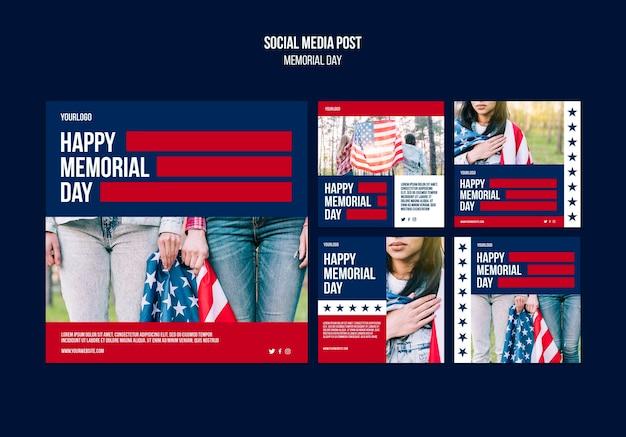 Publicaciones en redes sociales del día de los caídos