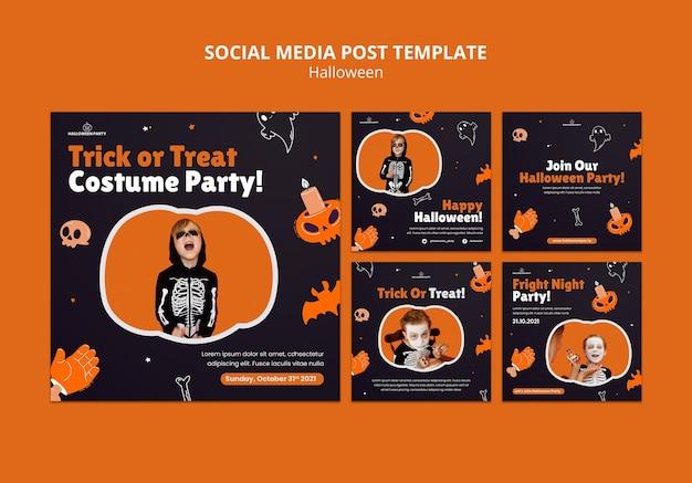 Publicaciones en redes sociales de halloween