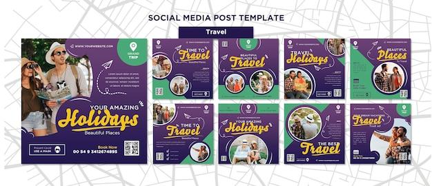 Publicaciones de redes sociales itinerantes con foto