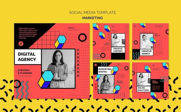 Publicaciones en redes sociales de marketing digital