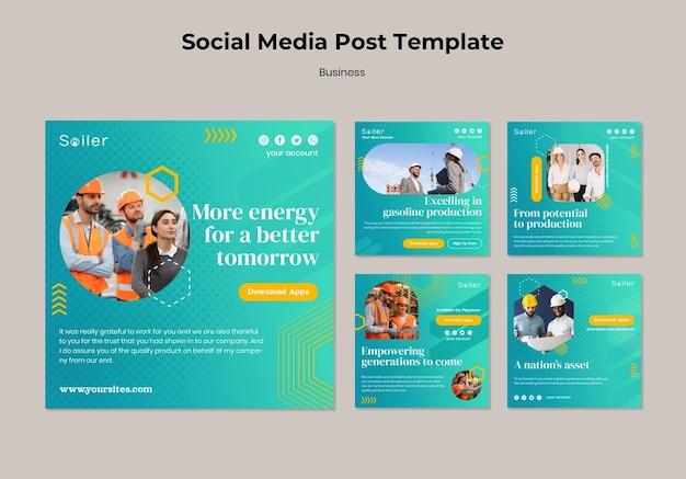 Publicaciones en redes sociales de negocios de almacén