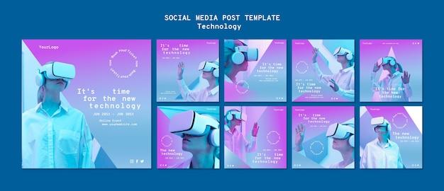 Publicaciones en redes sociales de realidad virtual