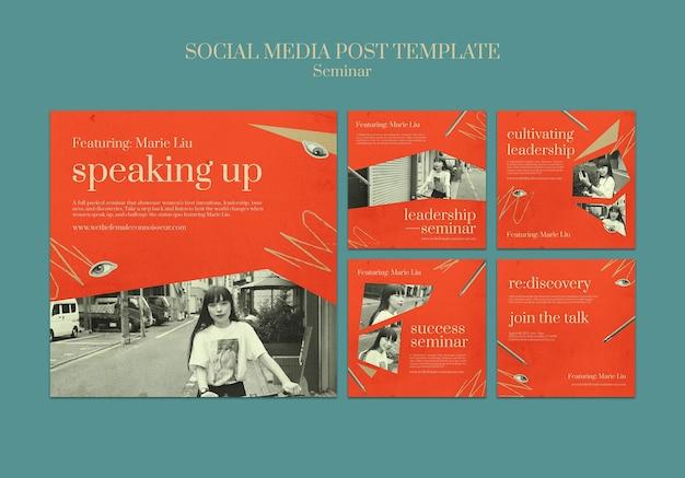 Publicaciones en redes sociales del seminario de feminismo