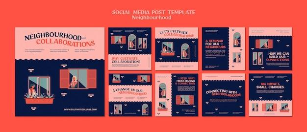 Publicaciones en redes sociales del seminario de vecindario