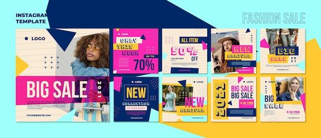 Publicaciones en redes sociales de venta de moda