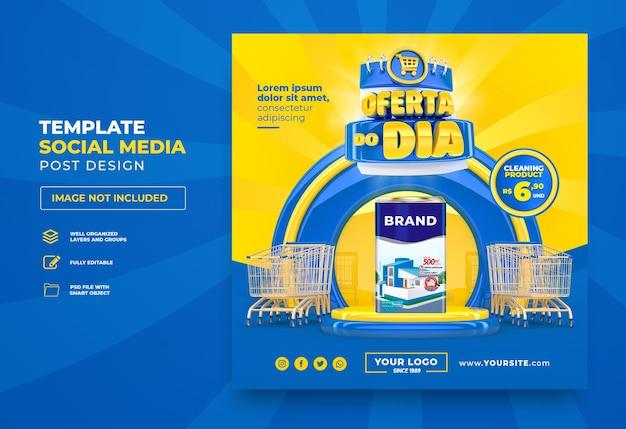 Publicar la oferta de instagram del día en las redes sociales en portugués