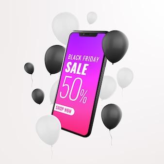 Publicidad de maquetas de venta de teléfonos inteligentes