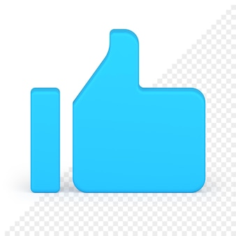 Pulgar arriba icono 3d