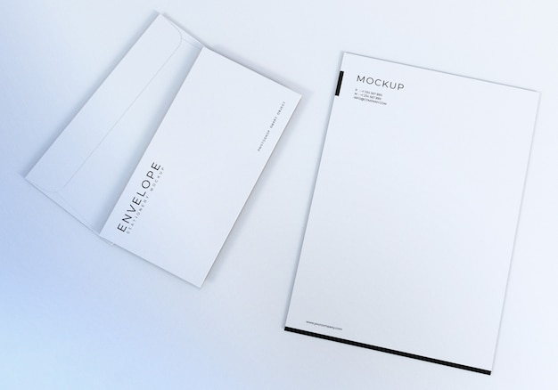 Pulisca il modello di progettazione del modello della busta bianca per la presentazione