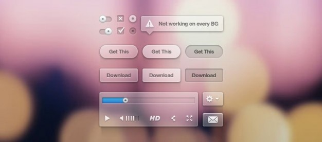 Pulsante di opzione strumento di punta ui interfaccia utente lettore video