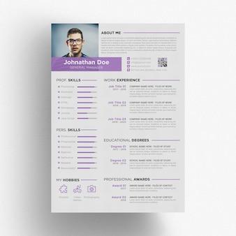 Purple resume template