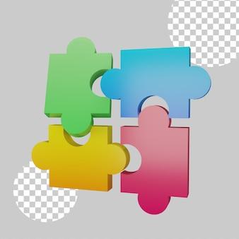 Puzzel concept 3d illustratie