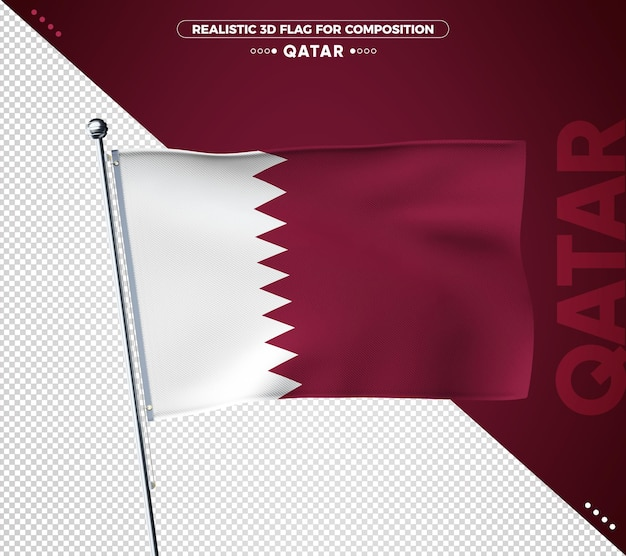 Qatar 3d geweven vlag voor samenstelling