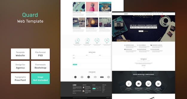 Quard-services en marketingwebsjabloon
