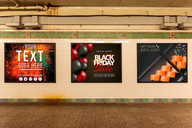 Raccolta di modelli di cartelloni pubblicitari