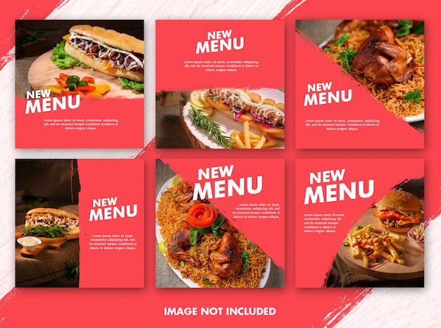 Raccolta di modelli di cibo post