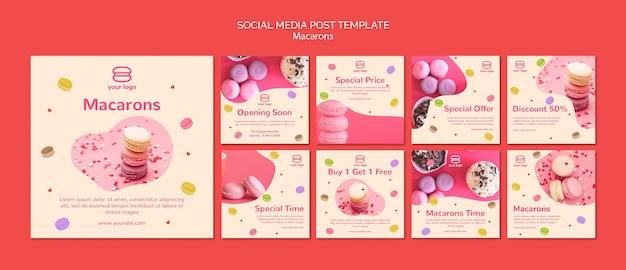 Raccolta di post su instagram con macarons