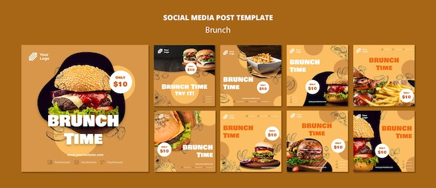 Raccolta di post su instagram per il brunch