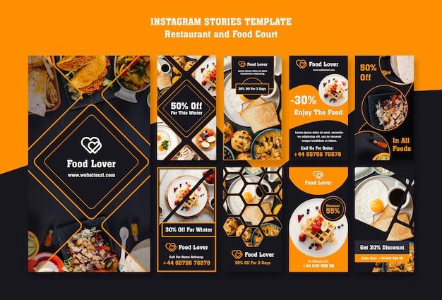 Raccolta di storie su instargram per ristorante per la colazione