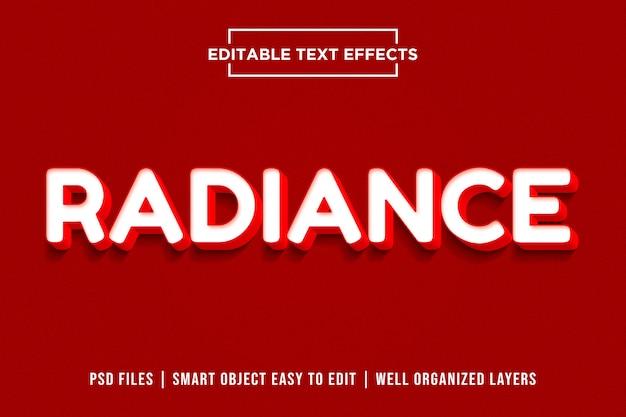 Radiance - effetti di stile testo rosso colorato