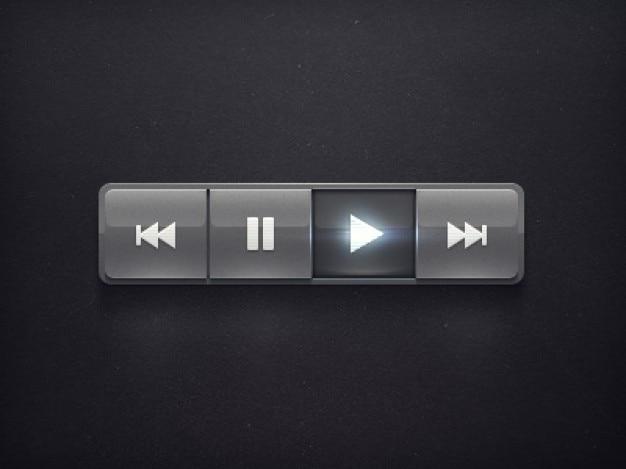 Radio eenvoudig en zwarte knop psd