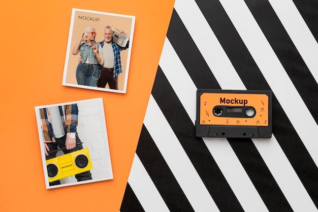 Radiocassetteband met mock-up