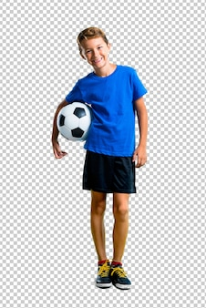 Ragazzo che gioca a calcio
