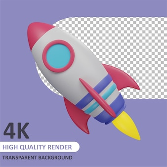 Raket 3d-weergave van karaktermodellering