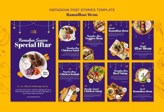 Ramadahn menu instagram-verhalen