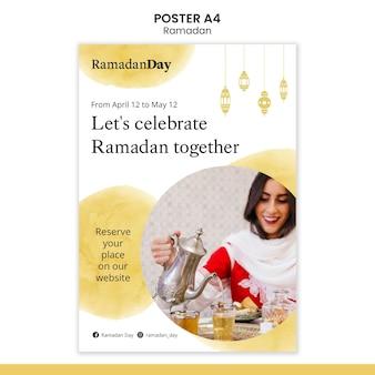 Ramadan evenement folder sjabloon met foto