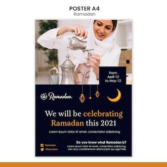 Ramadan evenement folder sjabloon