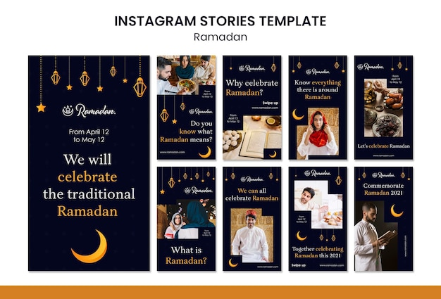 Ramadan evenement instagram verhalen sjabloon