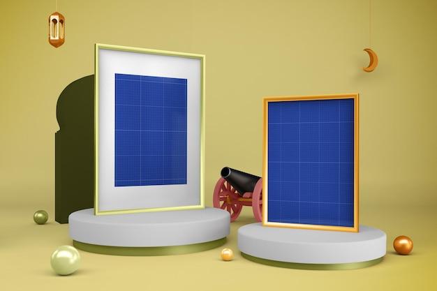 Ramadan frames design mockup