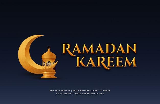 Ramadan kareem 3d-tekststijleffect