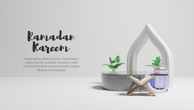 Ramadan kareem achtergrond met tekstsjabloon