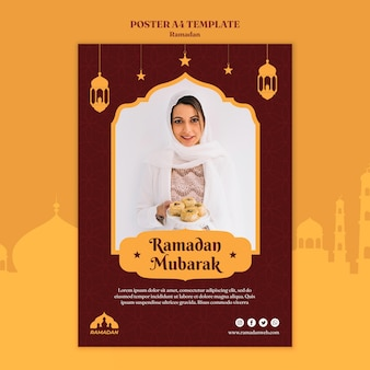 Ramadan kareem flyer-sjabloon