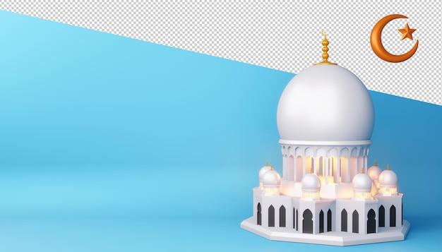 Ramadan kareem-ontwerp in 3d-rendering