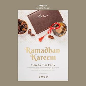 Ramadan poster sjabloon met foto